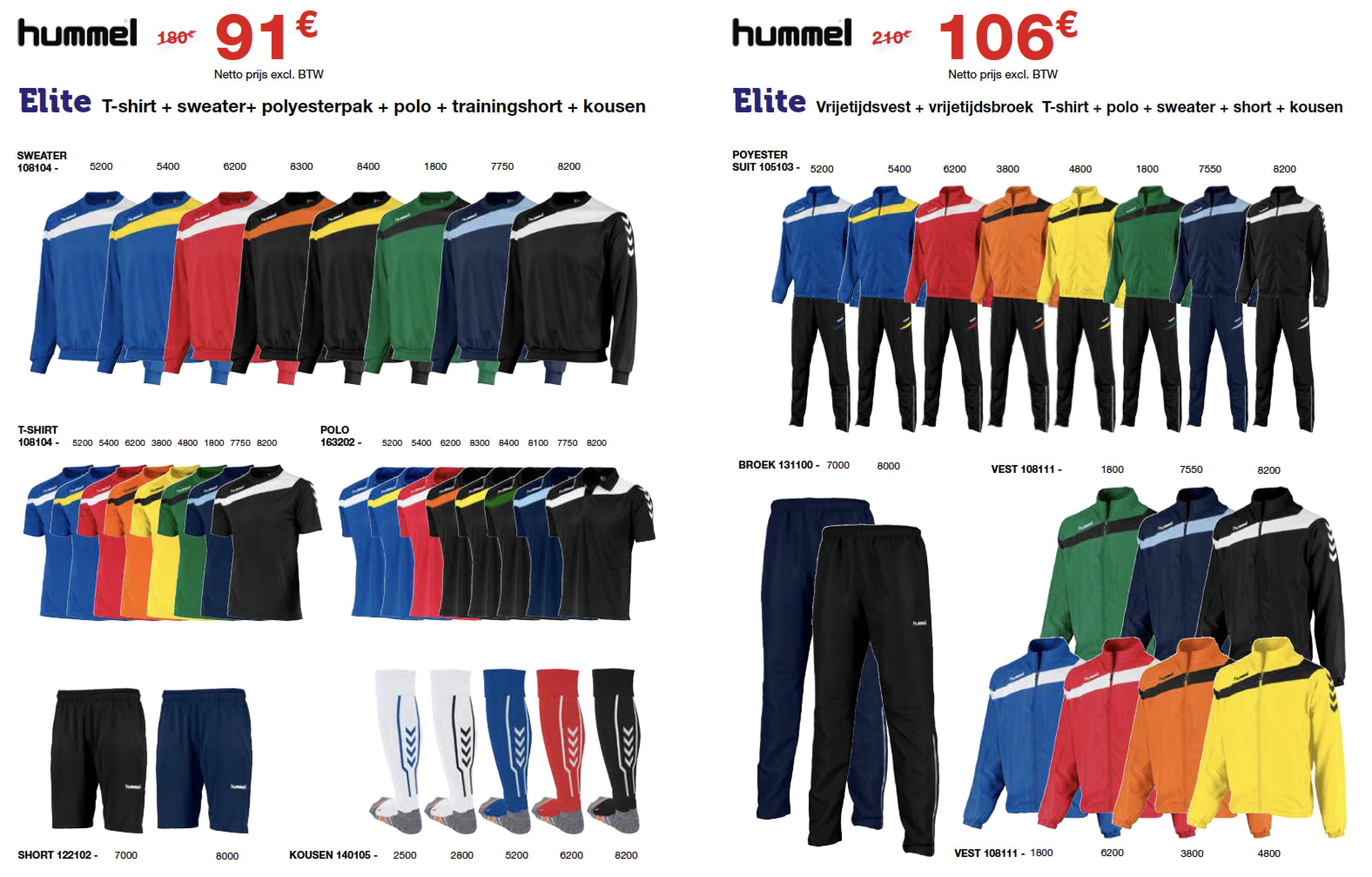 Trainingspakketten van Hummel voor teams