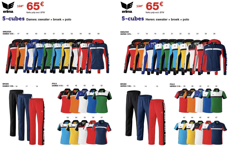 Erima 5-Cubes trainingspakket - Sportline teamwear