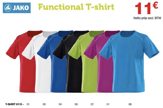 Jako sportclub functionele T-shirts