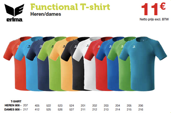 Erima sportclub functionele T-shirts