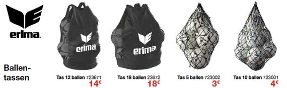 Ballentassen Erima voor sportclubs