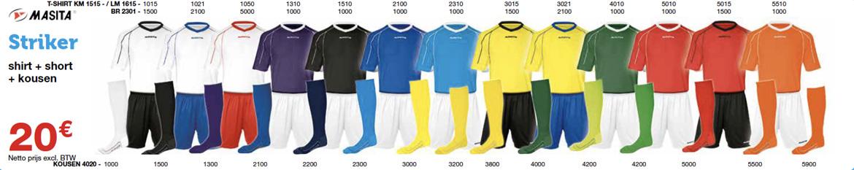 Masita Striker outfit voor voetbalploegen