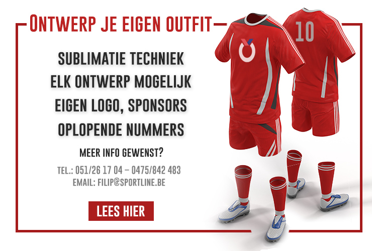 Teamwear - ontwerp je eigen shirt -  Sportline
