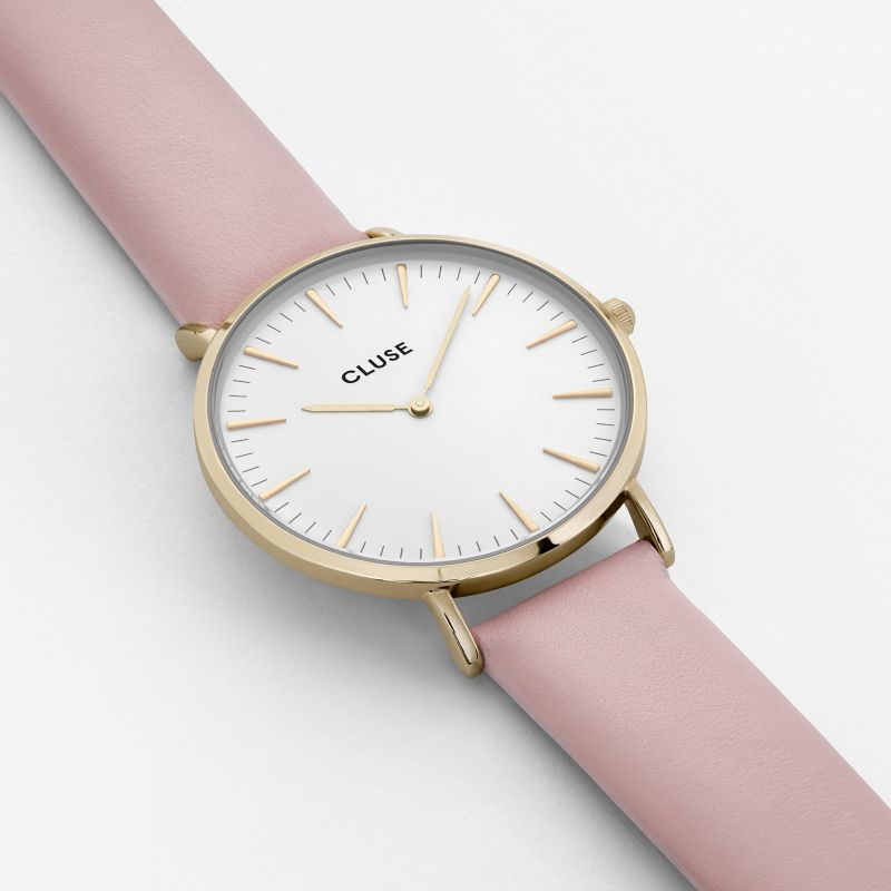 Cluse La Bohème horloge gold white/pink
