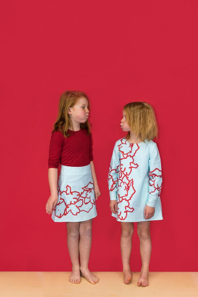 Nore en Anna in bio katoenen jurken