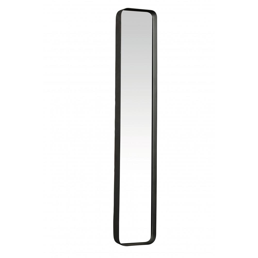 Kelly rechthoekige spiegel metaal spiegel zwarte structuur l 91x16x5 cm product - Spiegel orangerie ...