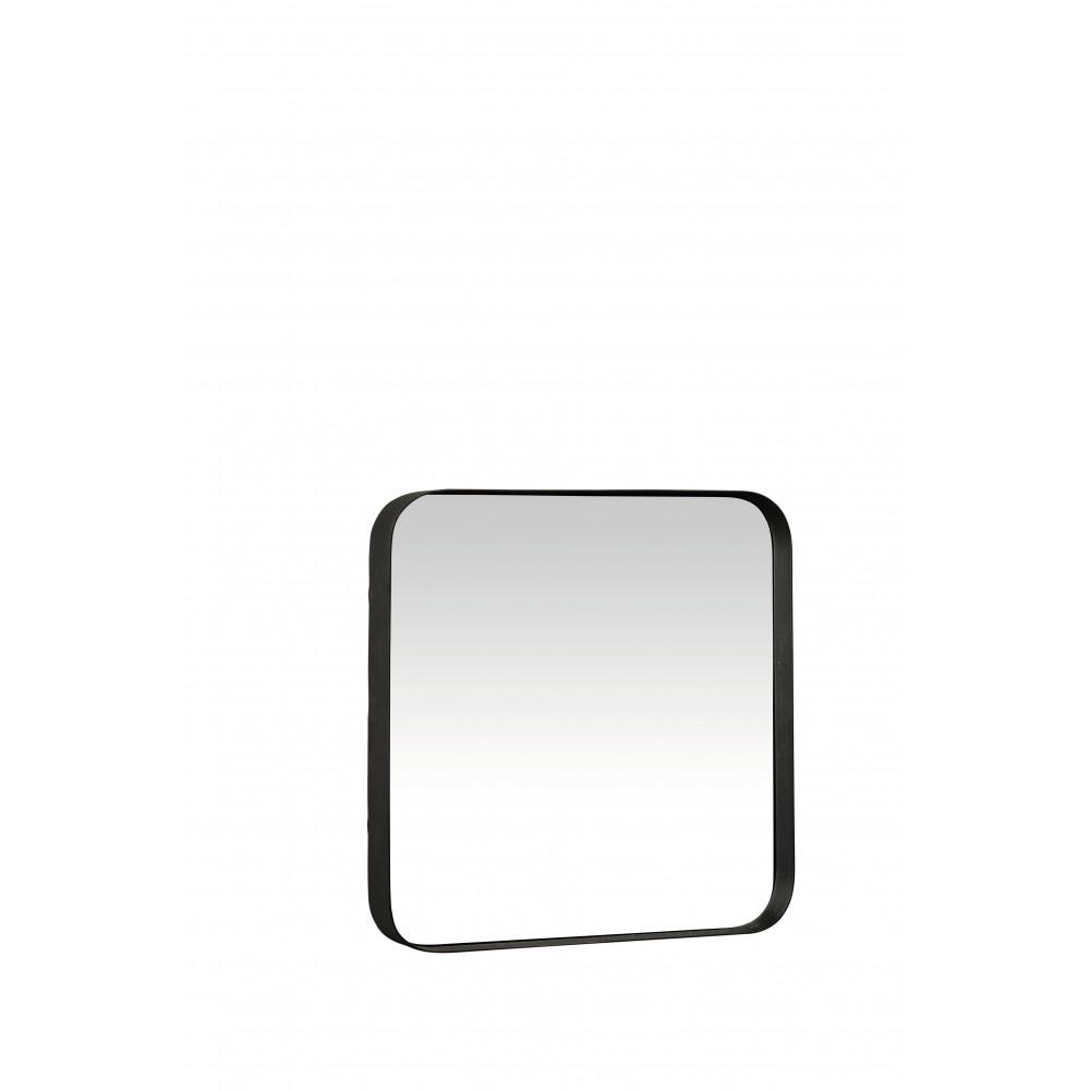 Kelly miroir carr m tal miroir structure noir mm for Miroir carre noir