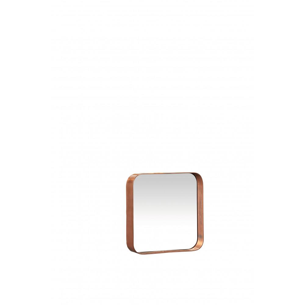 Kelly vierkante spiegel metaal spiegel blinkend koper s 25x25x5 cm product detail - Spiegel orangerie ...