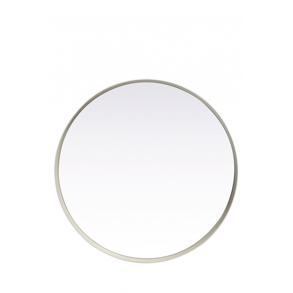 kelly miroir rond m tal miroir blanc mm 40x5cm product detail kelly round mirror. Black Bedroom Furniture Sets. Home Design Ideas
