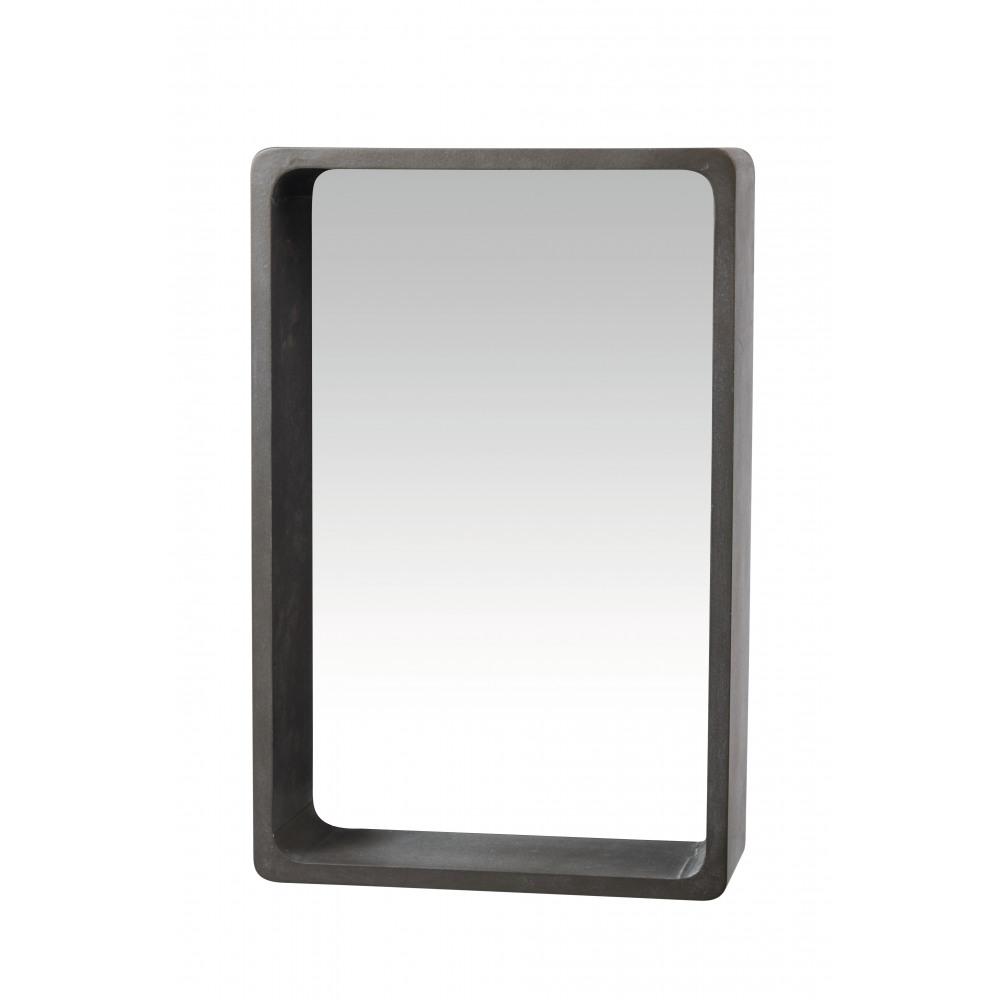Atrium muurschap met spiegel mdf beton l 41x15x63cm product detail atrium muurschap - Spiegel orangerie ...