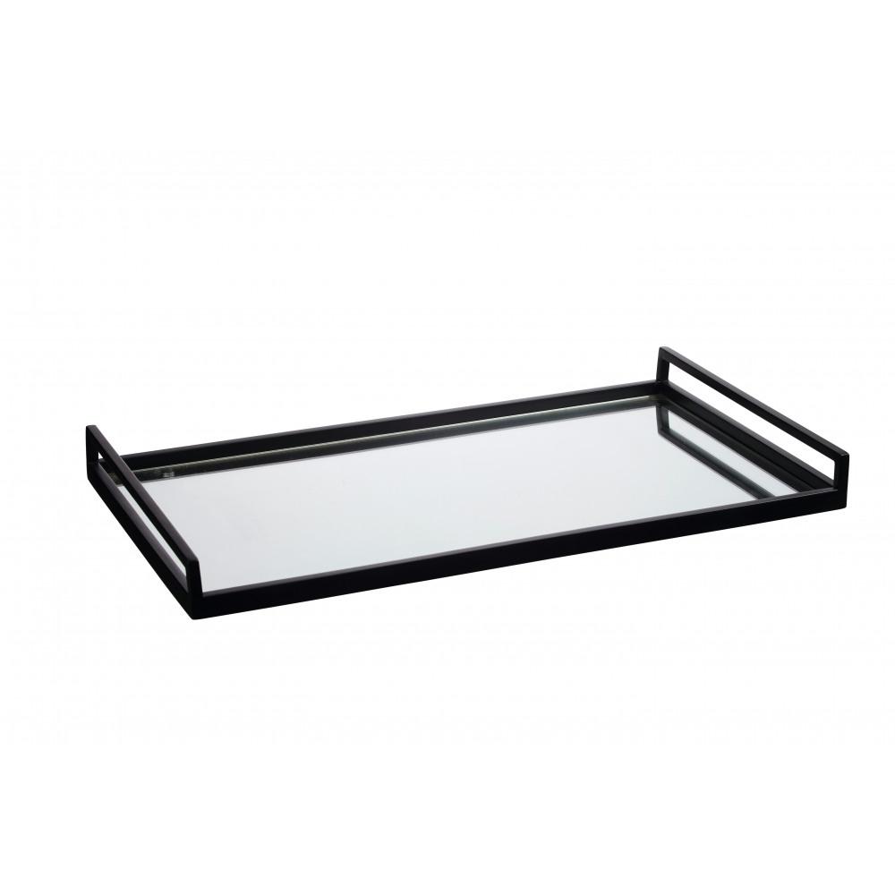 Bexley rechthoekige plateau saatl spiegel zwart l 61x36x5cm product detail bexley - Spiegel orangerie ...