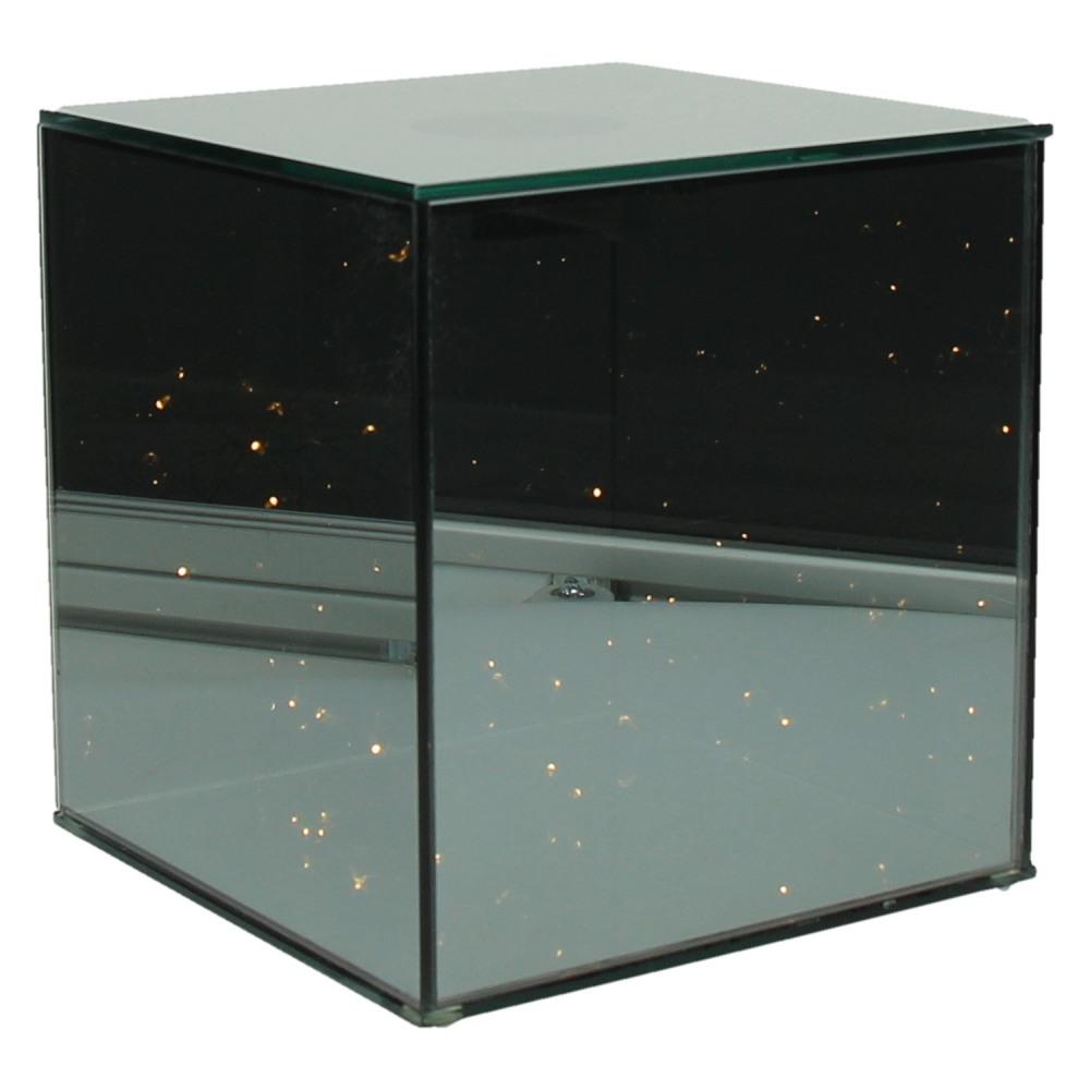 Shine in cube lumineux avec guirlande led 20 led for Verre miroir sans tain