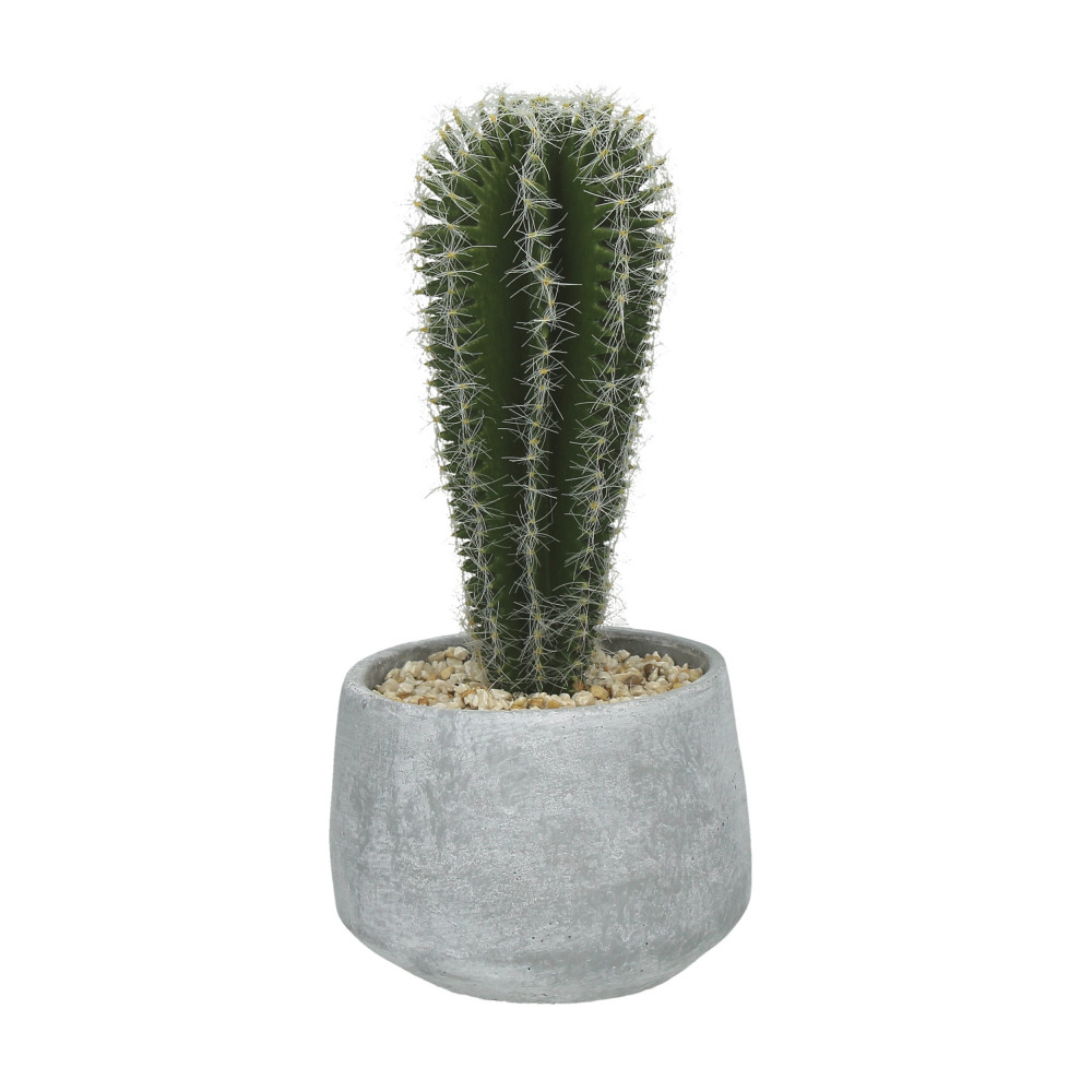 Cactus cactus artificiel en pot de ciment vert h23 5 for Cactus artificiel exterieur