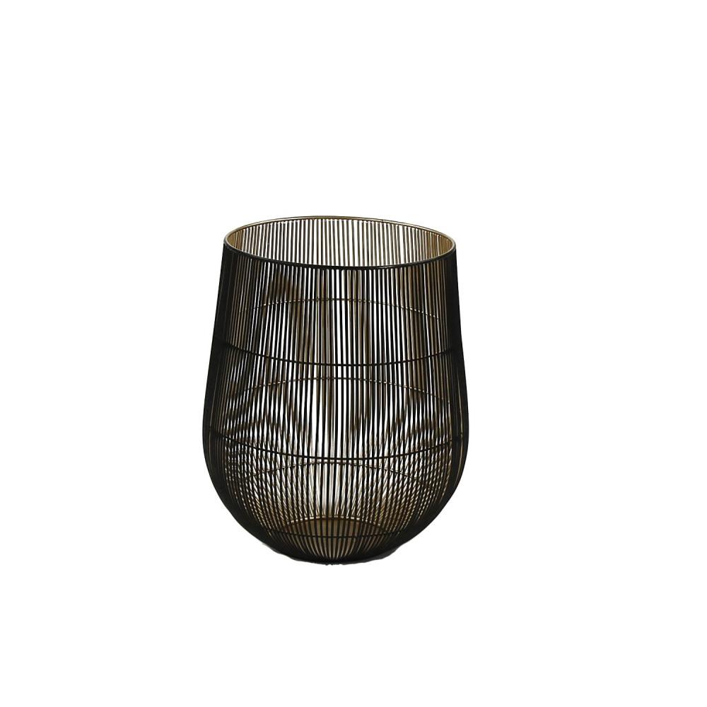 beijing photophore fil de fer noir or s dia 29 x 35 5 cm. Black Bedroom Furniture Sets. Home Design Ideas