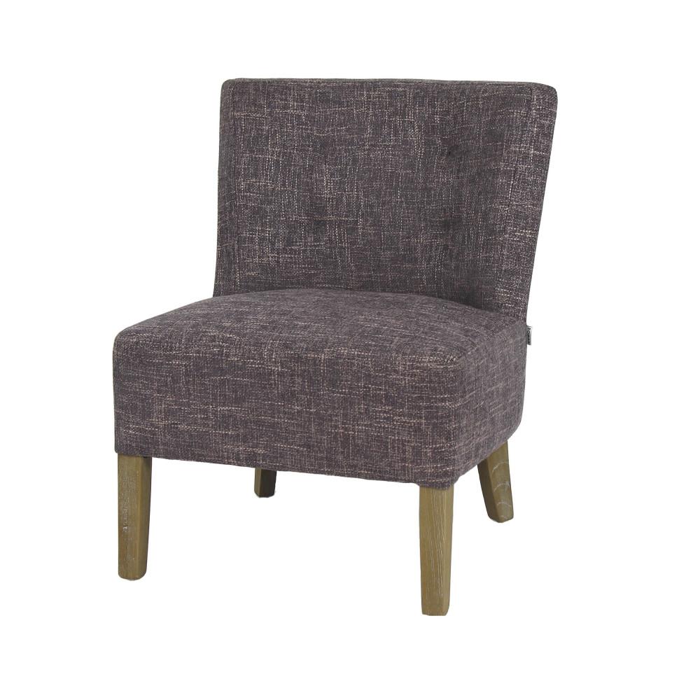 Kennedy Fireside Chair Oak Fabric Grey 52x58xh68 Cm