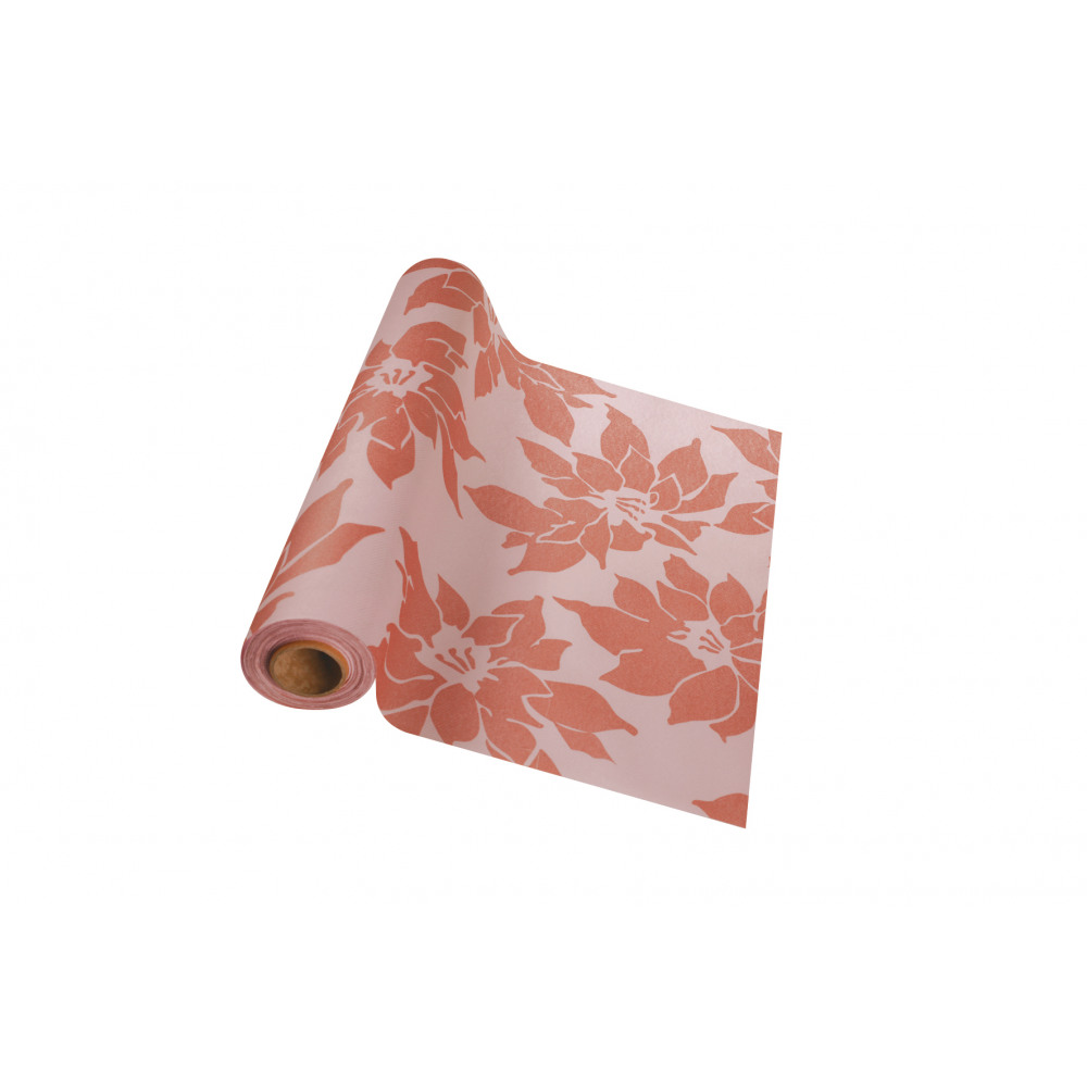Gala Tafelloper Dessin Pink Gold Rose Linnengevoel 10mx40cm Gala