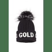 Goldbergh- Hodd beanie real raccoon fur