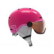 Salomon - Grom Visor Glossy Pink/Univers Snow Helmet