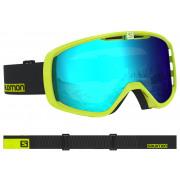 Salomon - Aksium Neon Yell/Univ MID BLUE Snow Goggle