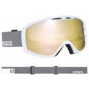 Salomon - Aksium White-Grey/Solar Bronze Snow Goggle