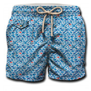MC2 St Barth - Printed Belt Short Slim Fit Morihana zwemshort