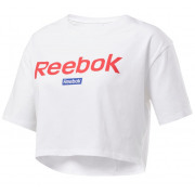 Reebok -Cropped T-shirt Linear Logo Dames