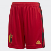 Adidas- Rode Duivels Voetbalshort RBFA H SHO Y COLRED netto Kids