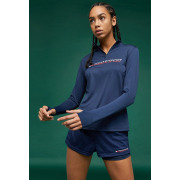 Tommy Sport - T-shirt 1/4 Zip Base Layer Dames