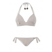Beach Life - Taupe Stripe Bikini