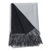 Spoil plaid Grijs / Zwart - 130 x 180 cm
