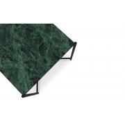Side table black frame green marble