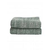 Gebreide handdoek Groen - 50 x 30 cm