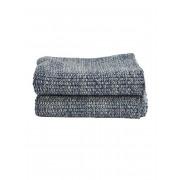 Gebreide handdoek Blauw - 30 x 50 cm