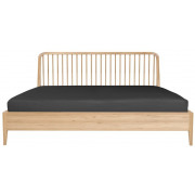 Oak Spindle Bed - 170 x 210 x 97 cm