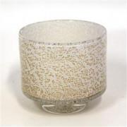Akiko glaswerk Gilded White Large - ø 14 x 13 cm