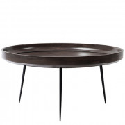 Bowl Table  - Sirka Grey Stained Mango Wood - Extra Large - Ø 75 x 38 cm