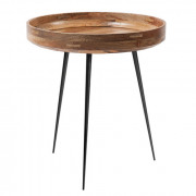 Bowl Table - Natural Lacquered Mango Wood - Medium - Ø 46 x 52 cm