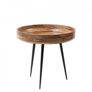Bowl Table – Natural Lacquered Mango Wood - Small - Ø 40 x 38 cm