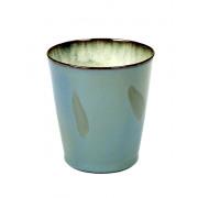 Beker Medium conisch mistig blauw - ø 8,5 x 9,5 cm