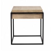 Oak Monolit Side Table - Black - 48 x 48 x 51 cm