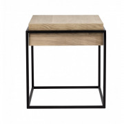 Monolit Side table metal black - 47 x 47 x 51 cm