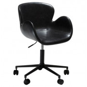 Gaia Office Chair - Vintage Black Art. Leather