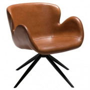 Gaia Lounge Chair - Vintage Light Brown Art. Leather