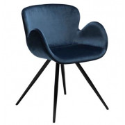 Gaia Dining Chair - Midnight Blue Velvet