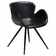 Gaia Dining Chair - Vintage Black Art. Leather