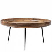 Bowl Table  - Natural Lacquered Mango Wood - Extra Large - Ø 75 x 38 cm