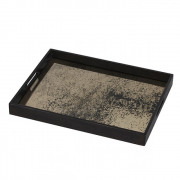 Heavy Aged Bronze Mirror Tray Small - 46 x 36 x 4 cm