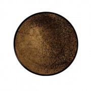 Heavy Aged Bronze Mirror - ø 48 cm