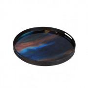 Indigo Organic Glass Tray - ø 48 x 4 cm