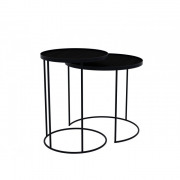 Round Tray Table Set High - ø 49 x 66 cm & ø 62 x 57 cm